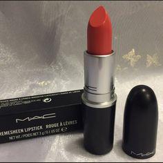 """CORAL BLISS"" MAC Cosmetics Lipstick Authentic Mac Lipstick ""CORAL BLISS"" (Cremesheen) MAC Cosmetics Makeup Lipstick"