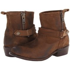 Bed Stu Double Women's Dress Boots, Tan featuring polyvore, fashion, shoes, boots, tan, side zip boots, tan leather shoes, tan leather boots, genuine leather boots and platform shoes