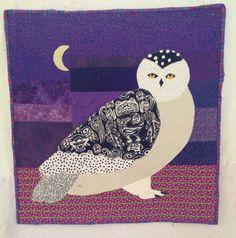 Snowy owl wall quilt   Still Water Lake Dawn blog