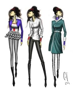 fashion design sketches | ... ve been working on these concepts was for a fashion design competition