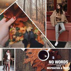 Fall, leave, coffe, orange, wool, camel, wood, look, fashion, trend.