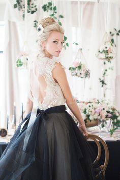 Black and white wedding dress | Wedding & Party Ideas | 100 Layer Cake