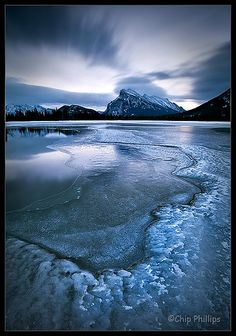 Winter Morning, Vermillion Lakes by Chip Phillips