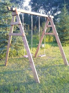 Swing set for kids Design and Built by MJames Woodworking  http://www.facebook.com/mjames.woodworking.page