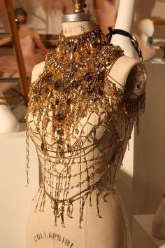 Gold, texture, beading