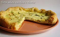 Torta salata zucchine e ricotta, ricetta veloce