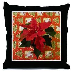 Christmas Throw Pillow by KirstiStore - CafePress Designer Throw Pillows, Accent Pieces, Accent Pillows, Pillow Inserts, Decorative Pillows, Prints, Christmas, Fun, Color