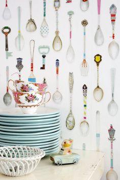 Studio Ditte Theelepel Behang Interieur inspiratie interieur trends muurdecoratie Teaspoons wallpaper 03