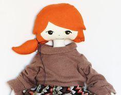 Handmade fabric doll by hersinshop on Etsy