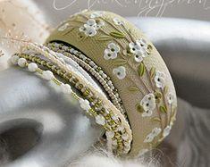 Clover Bangle set  Shamrock bracelet  Polymer clay by AleksPolymer