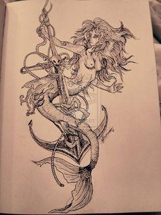 36fd1a7267df8708e1c16ce0b55aebd3--mermaid-anchor-tattoo-mermaid-tattoos.jpg (736×981)