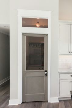 Vintage gray pantry door by Rafterhouse, Phoenix, AZ
