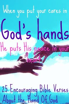 Why fear when we're in God's hands? Allow His hands to guide you. Let's learn more! CLICK HERE For 25 Encouraging Bible Verses About The Hand Of God! #bible #bibleverses #quotes #encouragement