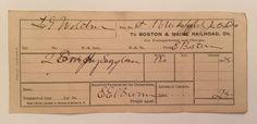 Vintage 1900 Boston & Maine B&M Railroad Billhead Receipt Paper Ephemera Train   | eBay