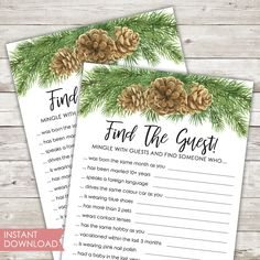 Bridal Shower Ideas on Decorations, Themes, Bridal Shower Favors and Games, FREE Printable Bridal Shower Games, FREE Printable Favors Printable Bridal Shower Games, Bridal Shower Favors, Picture Thank You Cards, Bachelorette Card, Winter Bridal Showers, Bridesmaid Cards, Rose Gold Foil, Cards For Friends, Winter Theme
