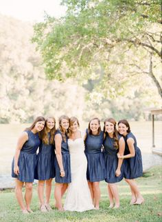 Bridesmaids: http://www.stylemepretty.com/little-black-book-blog/2015/01/20/rustic-elegant-fall-lakeside-wedding/ | Photography: Mint Photo - http://mymintphotography.com/