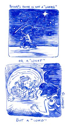 """I just want to go home…""A small pen sketch comic I doodled while thinking about Lapis"