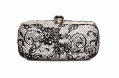 Satin effect clutch bag, with black lace and sequin detail, clasp fasteneing,reapshop.co.uk Norfolk, Create Website, Shoe Shop, Wedding Season, Clutch Bag, Coin Purse, Wallet, Detail, Bags