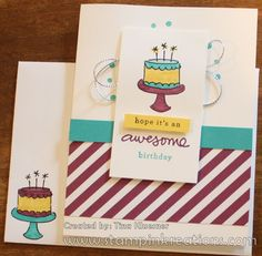 www.stampinkreations.com, Endless Birthday Wishes, Stampin' UP!, Brights DSP