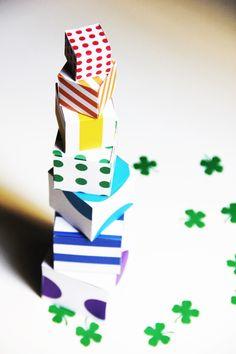Free printable rainbow box templates