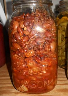 Home Canned Pork and Beans