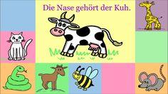 Good for learning animals, too. Deutsch lernen: Verb gehören + Dativ im Femininum (für Kinder und Anfänger)