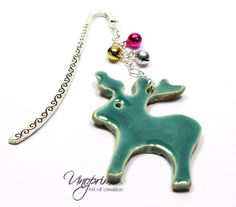 Bookmark, REINDEER Rudolph, Christmas, bells, turquoise Rudolph Christmas, Christmas Bells, Christmas Ornaments, Foil Packaging, Ceramic Pendant, Star Jewelry, Star Earrings, Book Gifts, Different Shapes