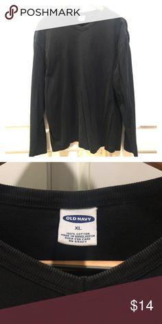Old Navy Men's XL long sleeve tee Vneck cotton tee, slightly faded. Old Navy Shirts Tees - Long Sleeve
