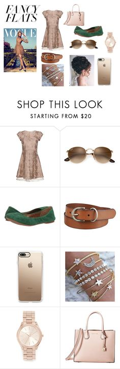 """Fancy Flats"" by itzsarahh on Polyvore featuring Patrizia Pepe, Lucky Brand, Uniqlo, Casetify, Michael Kors, MICHAEL Michael Kors, fashionable, chicflats and fancyflats"