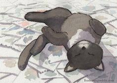 Kitty Loves Art (prints $7)