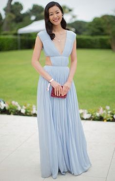 Liu Wen in Vionnet at the AmfAR Gala in Cannes