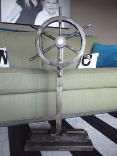 We completed many projects in the days leading up to Charm& Shark Pirate Party , and one of them was creating a portable ship wheel for Ch. Pirate Birthday, Pirate Theme, Pirate Party, 4th Birthday, Pirate Kids, Pirate Halloween, Halloween 2020, Halloween Ideas, Pirate Ship Wheel