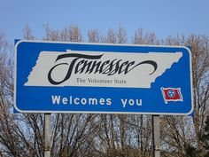 Tennessee State Welcome Sign (McNairy County, Tennessee) by courthouselover, via Flickr