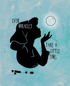"Cinderella silhouette, ""Even miracles take a little time."" Shadows & Light by Jennifer Jenell Konschak"