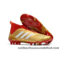 38ba2df4c3b Site De Chaussures De Foot Adidas Predator 18+ FG - Or Blanc Rouge