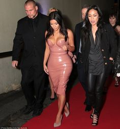 Entourage: Kim was flanked by her main security guard Pascal and her assistant Stephanie S...