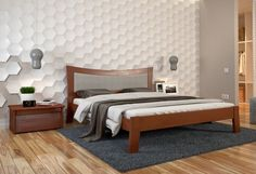 Полуторная кровать Гармония, купить деревянную кровать в Броварах, действует система скидок, доставка, цена, характеристики