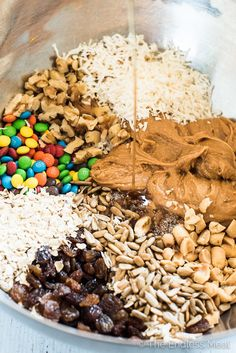 These easy to make Trail Mix Protein Bites make a delicious treat for your weekend adventures or a healthy after school snack. They are naturally gluten-free and can easily be made vegan. Everyone will LOVE this recipe!   theendlessmeal.com