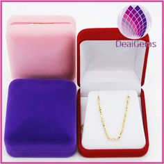 Velvet Leather Jewelry Gift Necklace Earrings Set Box XL Large 8 x 8 Inch 1pc