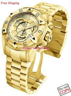 Encontre mais Relógios de Pulso Fashion - Masculino Informações sobre Grátis frete em 6471 Reserve Excursion de quartzo dos homens relógio de ouro discar banda de aço inoxidável W / R 200MT CHRONOGRAPH caixa Original, de alta qualidade assistir custo, relógio de limpeza China Fornecedores, Barato baterias de relógio frete grátis de Fashion Watches 188 em Aliexpress.com
