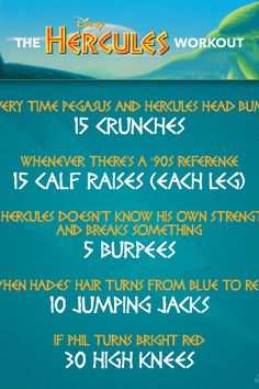 Workout to Your Favorite Disney Movies With This Disney Movie Workout Challenge Disney Movie Workouts, Tv Show Workouts, Disney Workout, Disney Movies, Fun Workouts, At Home Workouts, Fun Exercises, Disney Disney, Workout Guide