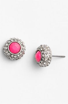 #pink #neon #earrings #studs