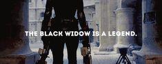 The Black Widow is a legend || Natasha Romanoff || Avengers: Age of Ultron ||  500px × 200px || #animated #fanedit