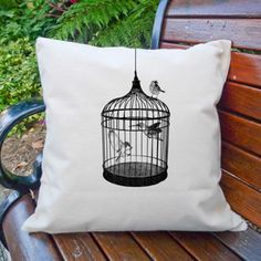 Birdcage Cushion Cover
