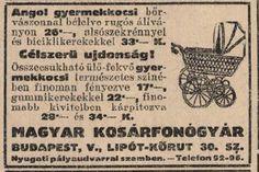 """Babakocsi a kosárfonógyárból! (Ha esetleg nem működtek a szerek a """"hosszabb kimaradás ellen""""). Népszava, 1914.11.15."""
