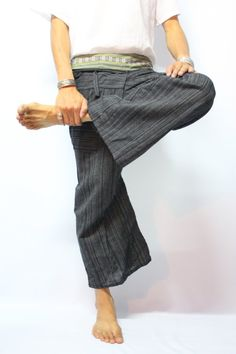 Thai Fisherman Pants With Thai Hand Woven Fabric on by Mathayom8, $15.95