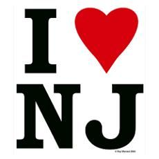I LOVE NJ Poster my brother lives in the Garden State New Jersey!