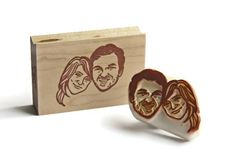 Hand+Carved+Mounted+Custom+Couple+Portrait+Stamp+by+StampsbySachi,+$90.00
