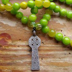 Celtic Mists, celtic prayer beads, celtic mala, goddess prayer beads, goddess mala, pagan prayer beads, pagan mala, priestess prayerbead by MagickAlive on Etsy