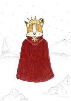 Zorro/Fox  #fox #animal #red #coat #snow #crown #king Fox Animal, Snow, King, Sculpture, Coat, Artwork, Red, Animals, Animais